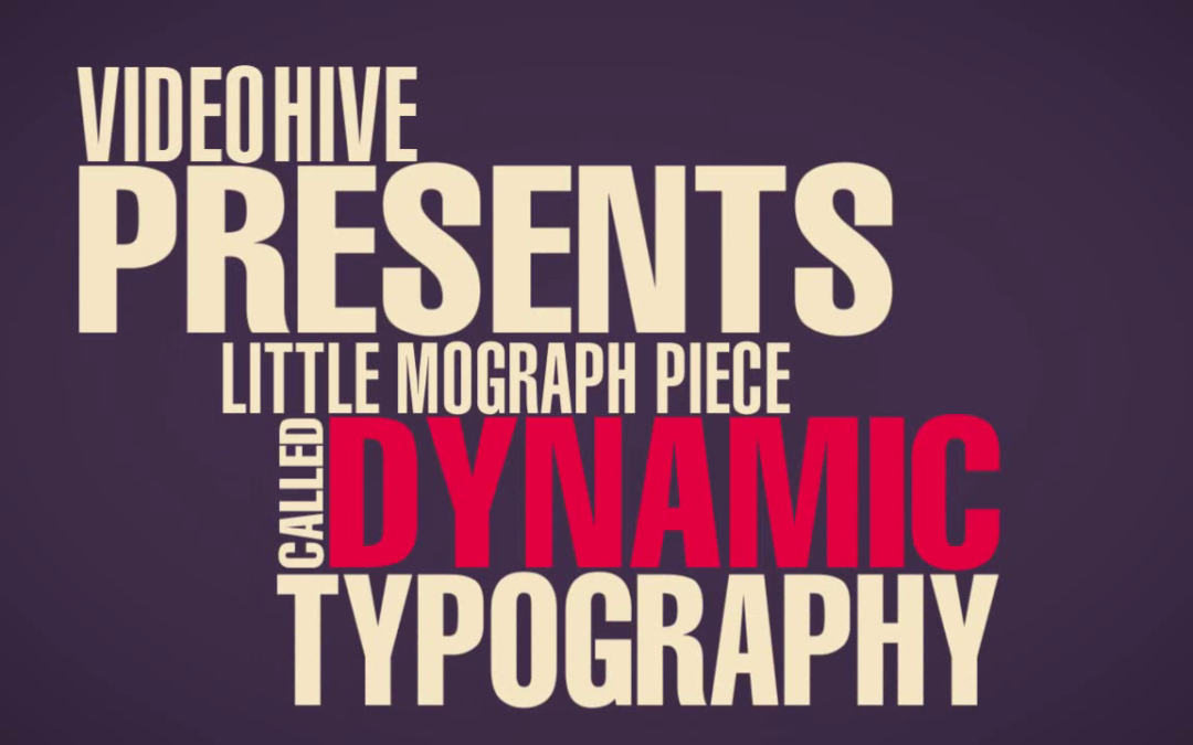 Dynamic Typography After Effects Template free download
