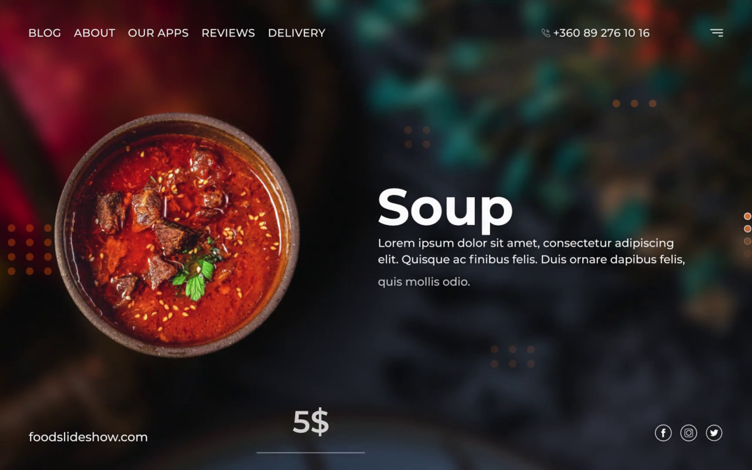 Food Slideshow Template Premiere Pro free