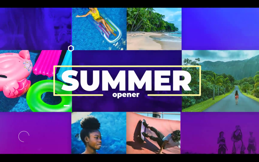 Modern Summer Slideshow Free After Effects Template Download