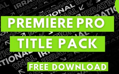 Free Premiere Pro Title Templates | Titles Pack